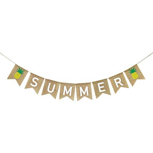 - Summer Banner Burlap, Summer Pineapple Decorations, Summer Decorations, Summer Party Decorations, Summer Party Supplies