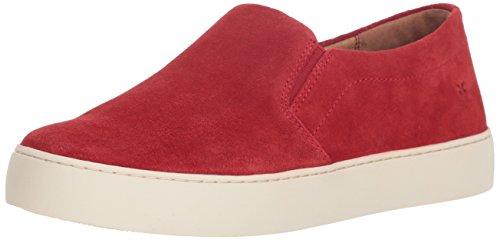 (FRYE Women's Lena Slip ON Sneaker, red, 7.5 M US)
