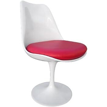 premium replacement cushion for saarinen tulip side chair red vinyl