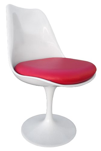 Premium Replacement Cushion for Saarinen Tulip Side Chair - Red Vinyl