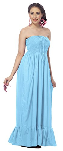 Buy light blue and brown bridesmaid dresses - 3