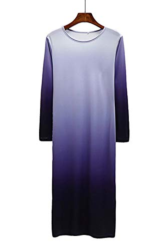 Dress Tie Dye Purple Dress Ombre Women`s Black and Top Maxi WIWIQS Casual Tank Long vaqw5nE