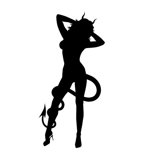 - LCK Unique Design Sexy Hot Women Girl Adult Pinup Devil, Red, 8 Inch, Die Cut Vinyl Decal, for Windows, Cars, Trucks, Toolbox, Laptops, MacBook-virtually Any Hard Smooth Surface