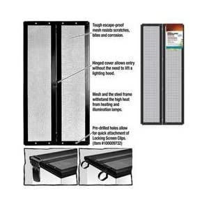 Zilla Fresh Air Terrarium Metal Screen Cover with Hinges (30 X 12 Inches) 1