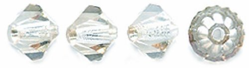 Preciosa Czech Crystal Bicone Beads Set, 5 by 5mm, Honey, 144-Pack