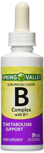 Spring Valley - Vitamin B-Complex Sublingual Liquid, 2 Ounce With a burst of B-12 (Spring Valley B Vitamin)