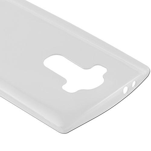 Cadorabo - LG G4 Cubierta protectora de silicona TPU en diseño AIR - Case Cover Funda Carcasa Protección en TRANSPARENTE