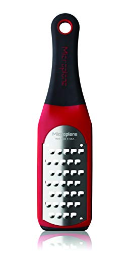 Microplane 42138 Artisan Series Extra Coarse Grater, 18/8, Red