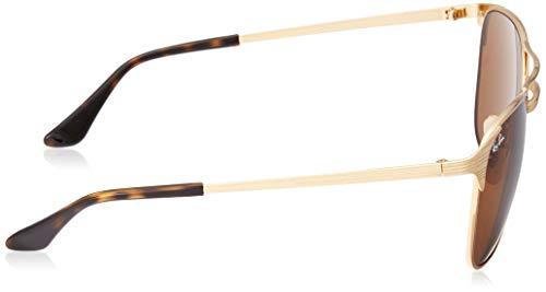 Ray-Ban Men's Metal Man Square Sunglasses, Gold/Brown, 55 mm by Ray-Ban (Image #3)