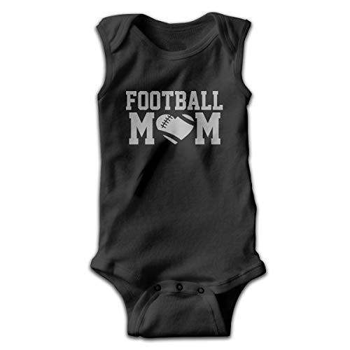 Address Verb Baby Sleeveless Bodysuits Football Mom Unisex Cute Lap Shoulder Onesies Black