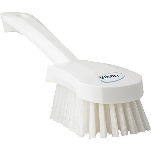 """Price comparison product image Vikan 41905 Heavy Duty Sweep Hand Brush,  Polypropylene,  Polyester Bristle,  10"""",  White"""