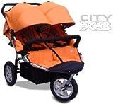 Tike Tech CityX3 AUTUMN ORANGE Double Twin Child Stroller