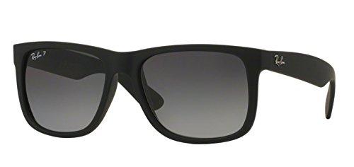 2c078fbdf93 ... free shipping ray ban rb4165 justin 622 t3 rubber black polarized  sunglasses 55mm f5e27 8dbcf