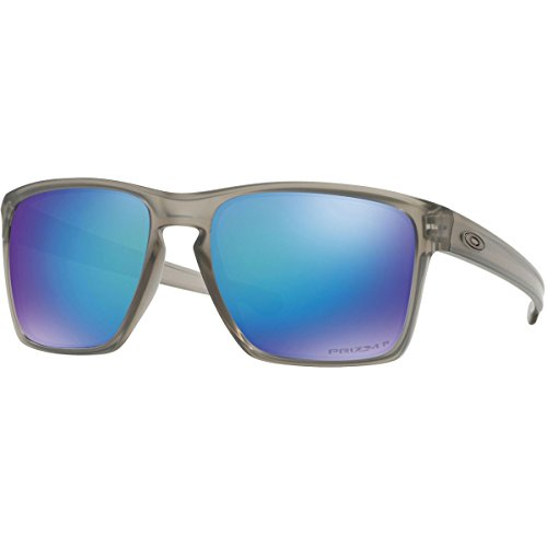 Oakley Men's OO9341 Sliver XL Rectangular Sunglasses, Matte Grey Ink/Prizm Sapphire Polarized, 57 ()