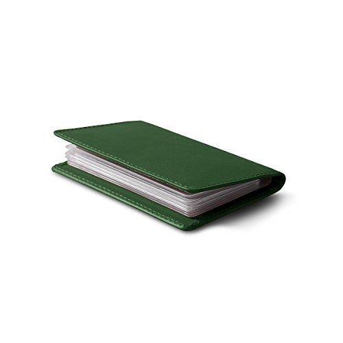 Lucrin - Dünner Kreditkartenhalter - Glattleder Dunkelgrün