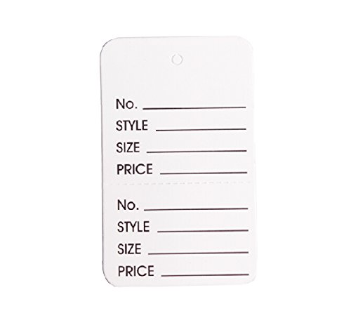 Metronic Marking Tags-Price Paper tag, Pack of 1000 (FBASmallwhitTwoPart)