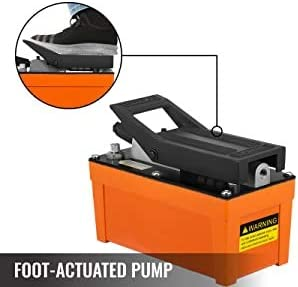 Orange Mophorn Air Hydraulic Pump 10000 PSI Air Over Hydraulic Pump 1//2 Gal Reservoir Air Treadle Foot Actuated Hydraulic Pump 3//8 NPT with 6 ft Hose 2 Connector Single Acting for Car Repair
