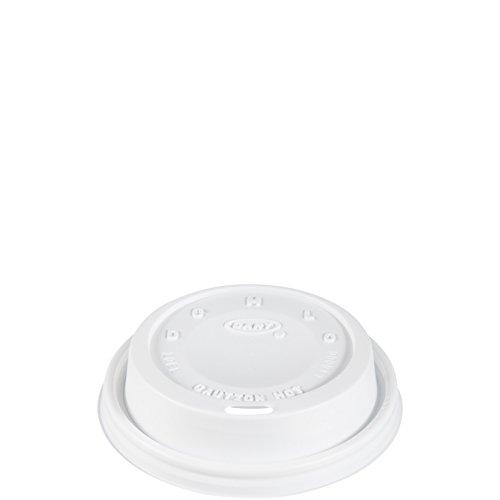 Dart White Cappuccino Lid - Dart 10EL White Cappuccino Lid (Case