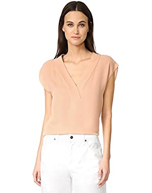 Theory Women's Orwin V Neck Top