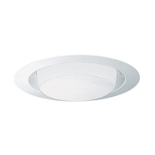 Drop Opal Shower Trim (Juno Lighting Group 271-PW Drop Opal with Reflector 6-Inch Recessed Trim, Plastic White Finish)