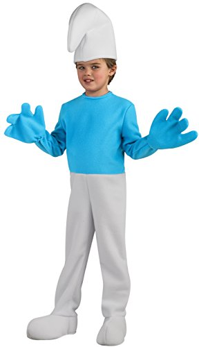 Rubie's Costume Smurfs: The Lost Village Child's Deluxe Smurf Costume, Multicolor, Small]()