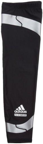 adidas Men's Techfit Powerweb Compression Elbow Sleeve (Black, Light Onix, Large)