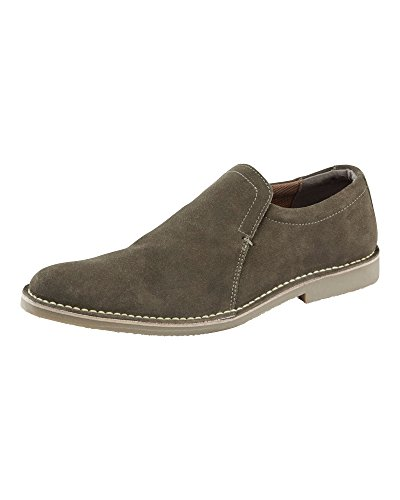 Traders Dark Fit Olive Mens on Slip Cotton Desert Suede E Shoes Leather d7cawBfqn