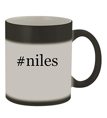 #niles - 11oz Color Changing Hashtag Sturdy Ceramic Coffee Cup Mug, Matte Black