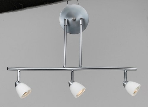 Cal Lighting SL-954-3-BS/WH Track Lighting with White Glass