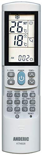 - Anderic KTN828 Universal Mini-Split Air Conditioner Remote Control - Works Most Major Brands: Lennox, Samsung, Kenmore, Toshiba, Sanyo, Haier, Mitsubishi, Frigidaire, Hitachi, LG, Panasonic, Sharp