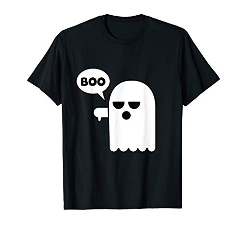 Funny Halloween Booing Ghost Thumbs Down
