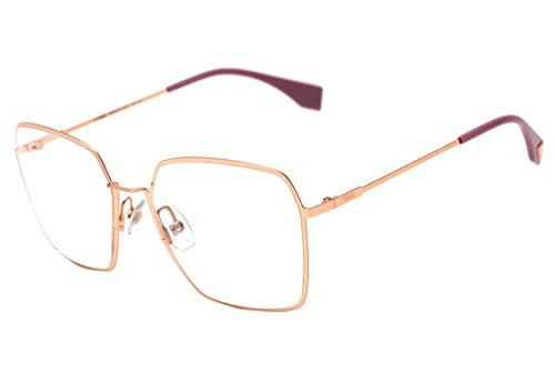 Fendi Ff 0333 - Óculos De Grau Ddb 18 Dourado Brilho