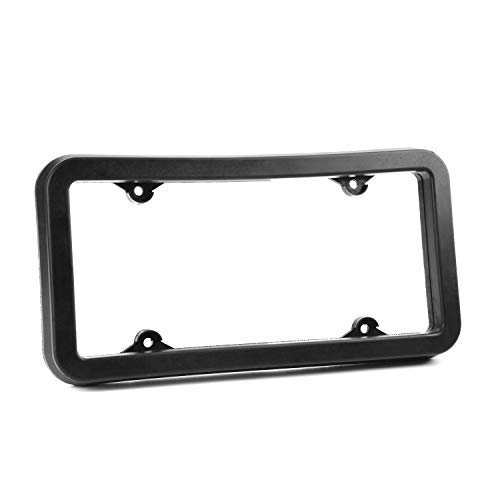 Rubber Protective License Plate Cover and Bumper Guard | Thick, Heavy Duty Rubber Prevents Scratches and Dents in Low Impact Bumps | Universal Fit for Cars, Trucks, SUVs and Vans