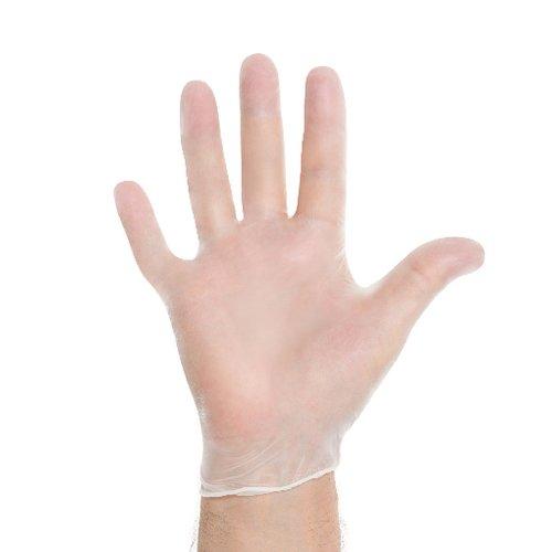 Halyard Health 55030-bx Synthetic Powder-Free Vinyl Exam Gloves, XS, Shape, X-Small, Clear (00)