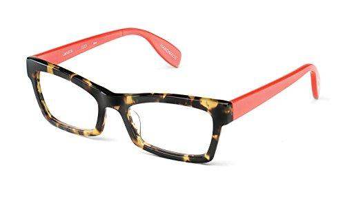 Carroll Street - Angular Trendy Fashion Reading Glasses for Men and Women - Tortoise/Salmon Pink (+1.75 Magnification Power) (Street Reading Scojo Glasses)