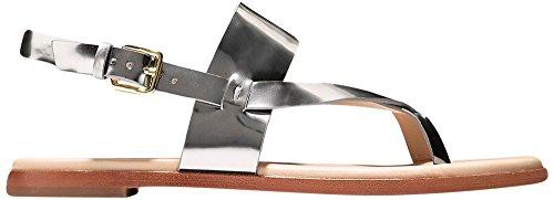 Cole Haan Womens Anica Thong Sandal 9.5 Pewter Metallic (Thong Sandal Metallic)