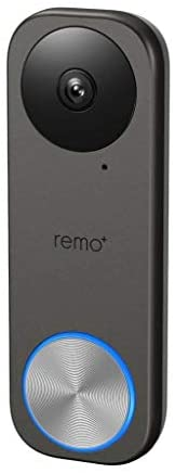 Remo+ RemoBell S WiFi Video Doorbell Camera with HD Video, Motion Sensor, 2-Way Talk, and Alexa Enabled (No Mo
