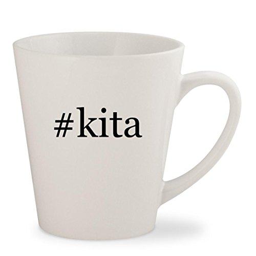 #kita - White Hashtag 12oz Ceramic Latte Mug (Ikki Air Gear Costume)