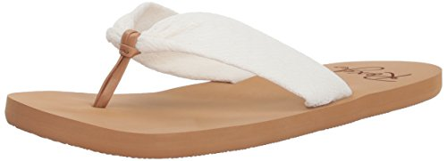 Roxy Women's Paia Knotted Sandal Flip-Flop Cream dRk8rW5