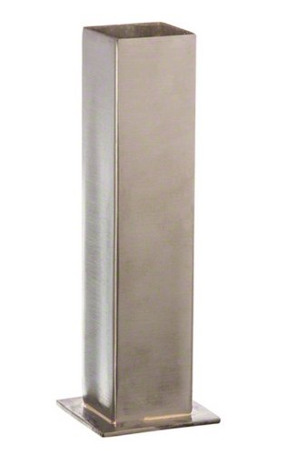 SSBV1 Stainless Steel Bud Vase, Satin Finish, Silver (Silver Finish Flowers)