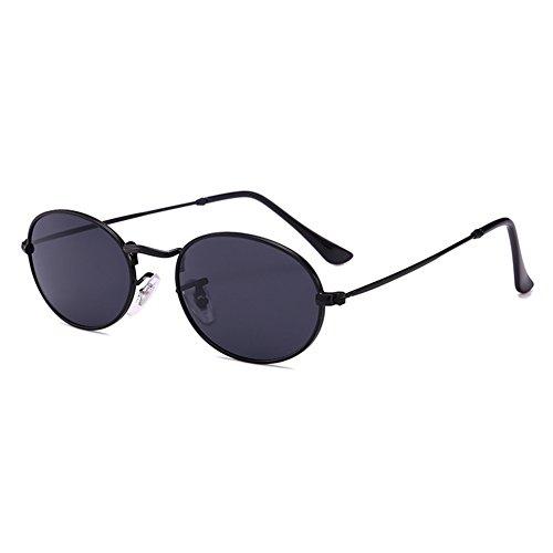 plástica ovaladas Vintage de mujeres pequeñas marco gafas hombres lente sol de gafas C1 Highdas metal w4vZdqIv