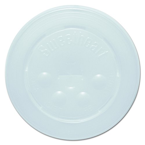 Paper Slot Lid - Solo L16BL-0100 Id Straw Slot Plastic Lid -translucent - For Solo Paper Cold Cups (Case of 2000)