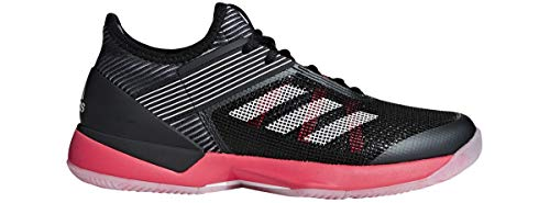 adidas Women's Adizero Ubersonic 3, Black/White/Shock red, 9 M US