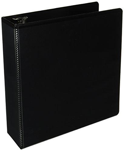 Wilson Jones Heavy Duty D-Ring View Binder, 3 Inch, 8.5 Inch x 11 Inch Sheets, Customizable, Black (W385-49B)