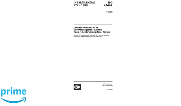 Amazon com: ISO 45001:2018, First Edition: Occupational