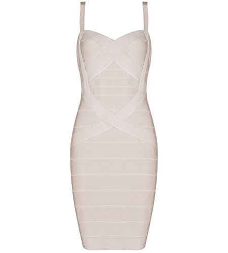 Bqueen Women's Spaghetti Strap Bodycon Bandage Dress BQ1636-1