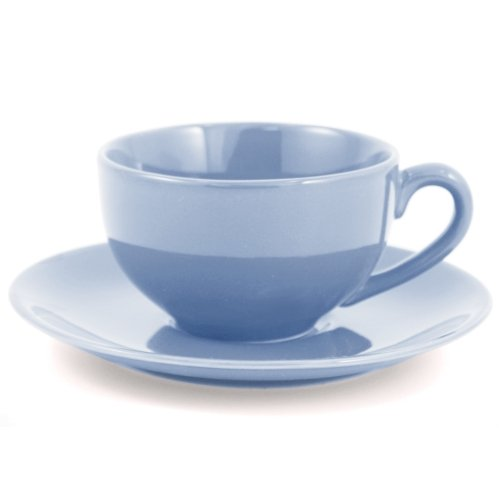 Metropolitan Tea Powder Blue Ceramic Teacup and