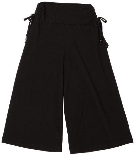 Amy Byer Girls' Soft Knit Wide Leg Gaucho Pants, Black, -