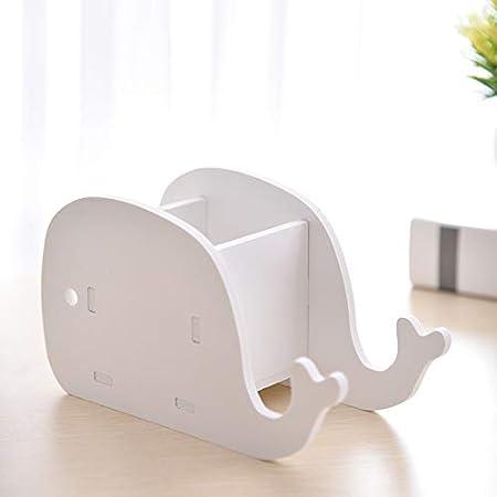 10CM 8 Baleine Wakerda Animal La mod/élisation Crayon Tasse Bureau en Bois Pot /à Crayons Multifonctionnel Paresseux T/él/éphone Portable Support 1PCS Size 18