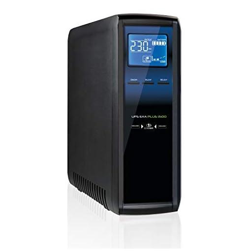 Tecnoware UPS EXA Plus 1500 Sistemas de alimentación ininterrumpida para Game PC y Consola - Alta Silenciosidad - 8… 1